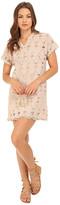Brigitte Bailey Xandra Short Sleeve Lace Dress with Tassels
