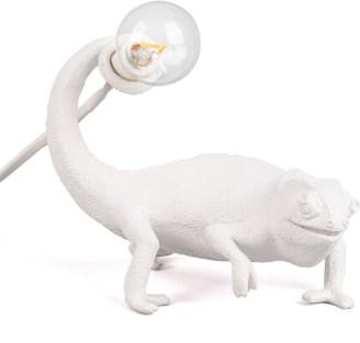 Seletti White Resin Chameleon Lamp Still