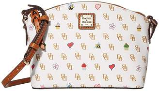 Dooney & Bourke Gretta Novelty Suki Crossbody (White/Natural Trim) Handbags
