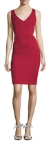Zac Posen Vera Solid Cut Out Sheath Dress