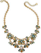 """Charter Club Gold-Tone Multi-Stone Statement Necklace, 17"""" + 2"""" extender, Created for Macy's"""