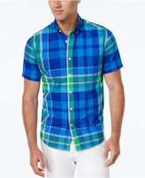 Tommy Hilfiger Men's Big & Tall Carmalee Plaid Short-Sleeve Shirt