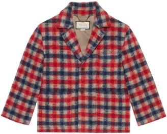 Gucci Check wool jacket
