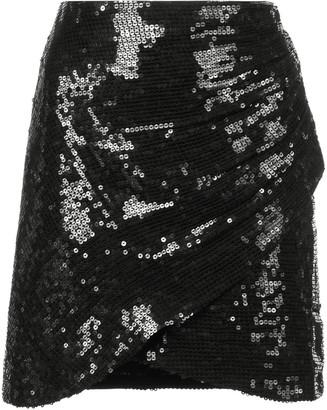 Alice + Olivia Sequin Wrap Mini Skirt