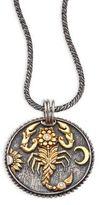 Konstantino Zodiac Diamond, 18K Yellow Gold & Sterling Silver Scorpio Pendant