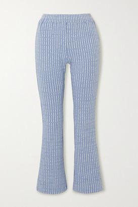MM6 MAISON MARGIELA Ribbed-knit Flared Pants
