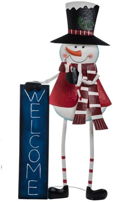 Transpac Metal Snowman Christmas Character Yardstake