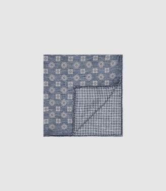 Reiss Bonucci - Medallion Pocket Square in Blue