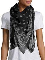Saint Laurent Paisley-Print Cashmere & Silk Scarf