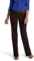 Lands' End Women's Not-Too-Low Rise Bootleg Chino Pants-Dark Red