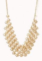 Forever 21 Floral Bib Necklace