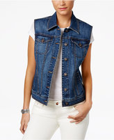 Style&Co. Style & Co Button-Front Denim Vest, Only at Macy's