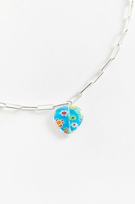 Urban Outfitters Glass Heart Pendant Necklace