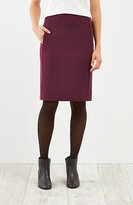 J. Jill Ponte Knit Forward-Seam Skirt