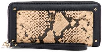 GUESS Large Lucienne Python-Print Zip-Around Wallet