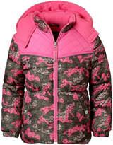 Pink Platinum Heavyweight Camouflage Puffer Jacket - Girls-Toddler