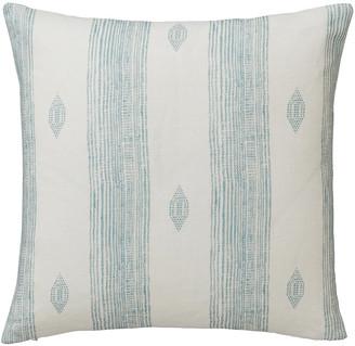 OKA Skoura Cushion Cover - PaleBlue/White