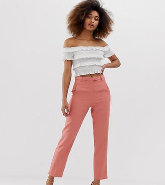 Miss Selfridge cigarette pants in pink