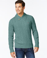 Tommy Hilfiger Big and Tall Intercontinental Shawl-Collar Sweater A Macy's Exclusive