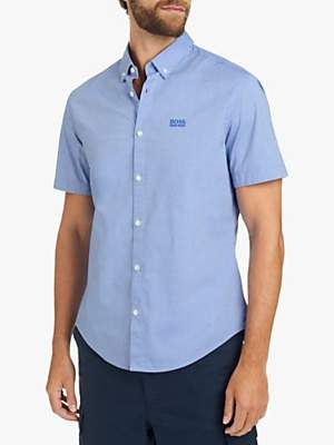 HUGO BOSS BOSS Short Sleeve Biadia Oxford Chambray Shirt