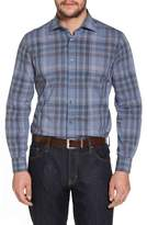 Luciano Barbera Trim Fit Plaid Sport Shirt