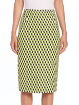 Michael Kors Cube Jacquard Pencil Skirt