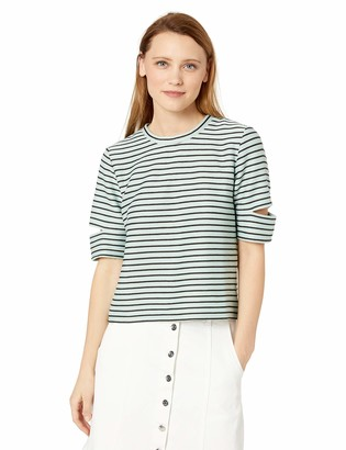Skinnygirl Women's Kate Back Lace Up Knit Top