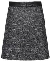 HUGO Regular-fit skirt with faux-leather belt detail