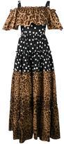 Dolce & Gabbana multi print maxi dress