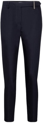 Brunello Cucinelli High-rise stretch-cotton slim pants