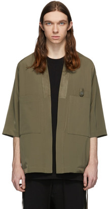 Song For The Mute Taupe Quarter-Sleeve Kimono Jacket