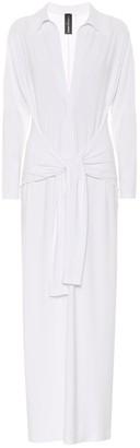 Norma Kamali Stretch-jersey shirt dress