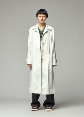 Lee Mathews Workroom Women's LM Drill Car Coat in Natural Size 00