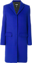 MSGM classic buttoned coat - women - Polyamide/Viscose/Wool - 40