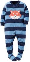 Carter's Toddler Boy Striped Applique Footed Pajamas