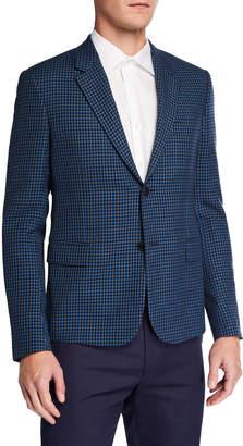 Valentino Men's Plaid Wool Tailored Blazer