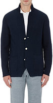 Drumohr MEN'S KNIT THREE-BUTTON SPORTCOAT-BLACK SIZE L