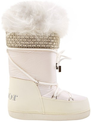 Christian Dior White Leather Boots