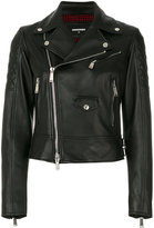 DSQUARED2 Kiodo biker jacket - women - Leather/Polyester/Viscose/Virgin Wool - 38