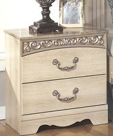Signature Design by Ashley Antique White Catalina Two-Drawer Night Stand