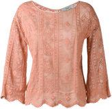 Forte Forte scalloped hem knitted blouse - women - Cotton/Polyamide - 0