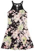 Sally Miller Girls' Abstract Floral Lace Dress - Sizes S-XL