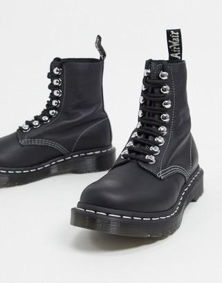 Dr. Martens 1460 8 eye ski hook boots in black