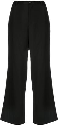Yohji Yamamoto Cropped Straight-Leg Trousers