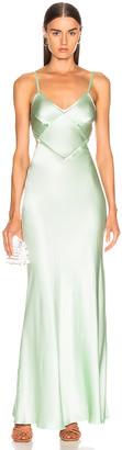 Alberta Ferretti Slip Dress in Green | FWRD