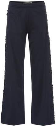 Tory Sport Tear-away ruffled track pants