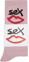 SEX SKATEBOARDS sex logo cotton-blend socks