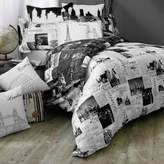 Bed Bath & Beyond Passport London and Paris Reversible King Duvet Cover Set in Black/White