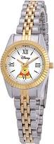 Disney Status Womens Winnie the Pooh Two-Tone Metal Bracelet Watch