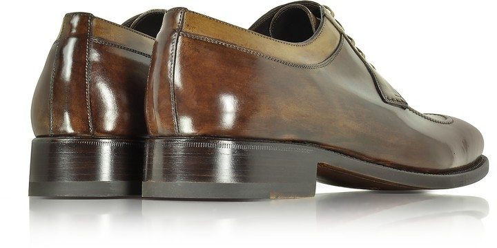 Thumbnail for your product : Forzieri Italian Handcrafted Two Tone Leather Derby Shoe